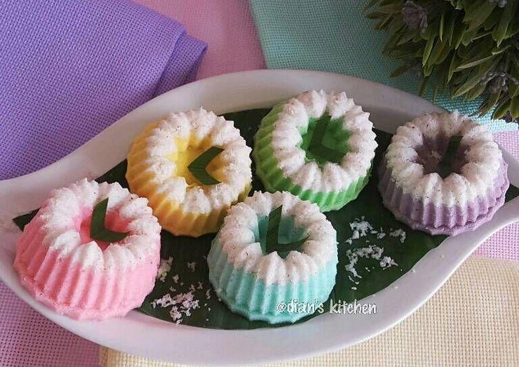 Resep Putu Ayu Pelangi Oleh Dian S Kitchen Resep Resep Kue Ide Makanan