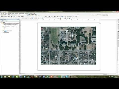 How To Change Map Layout From Portrait To Landscape In Arcmap 10 1 Youtube