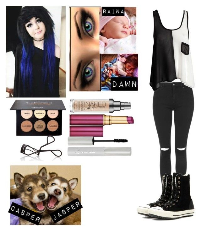 """""""~Mika~"""" by twdisbae ❤ liked on Polyvore featuring Topshop, Club L, Converse, Urban Decay, Estée Lauder, e.l.f. and NARS Cosmetics"""
