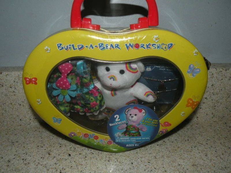 Build-A-Bear Workshop NEW IN CASE Mini Rainbow Bear with Clothing & Jewelry! Great CHRISTMAS GIFT!