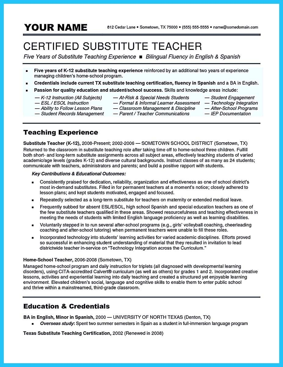 substitute teacher resume examples best business template job description for professional best free home design idea inspiration - Resume For Substitute Teachers