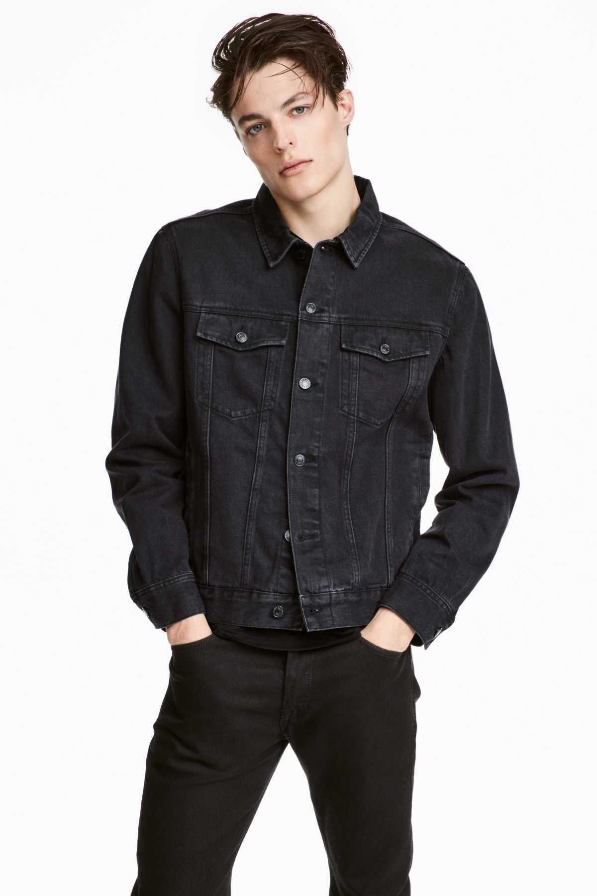 Denim Jacket Black Denim Men H M Us Shop Mens Clothing Mens Outfits Black Denim Jacket