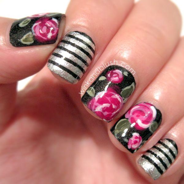 WINK AND BLUSH! #nail #nails #nailart | Nails | Pinterest | Rose ...