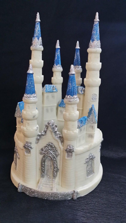 princess castle castle cake topper birthday cake topper castle for cake princess birthday pink castle decoration blue silver castle