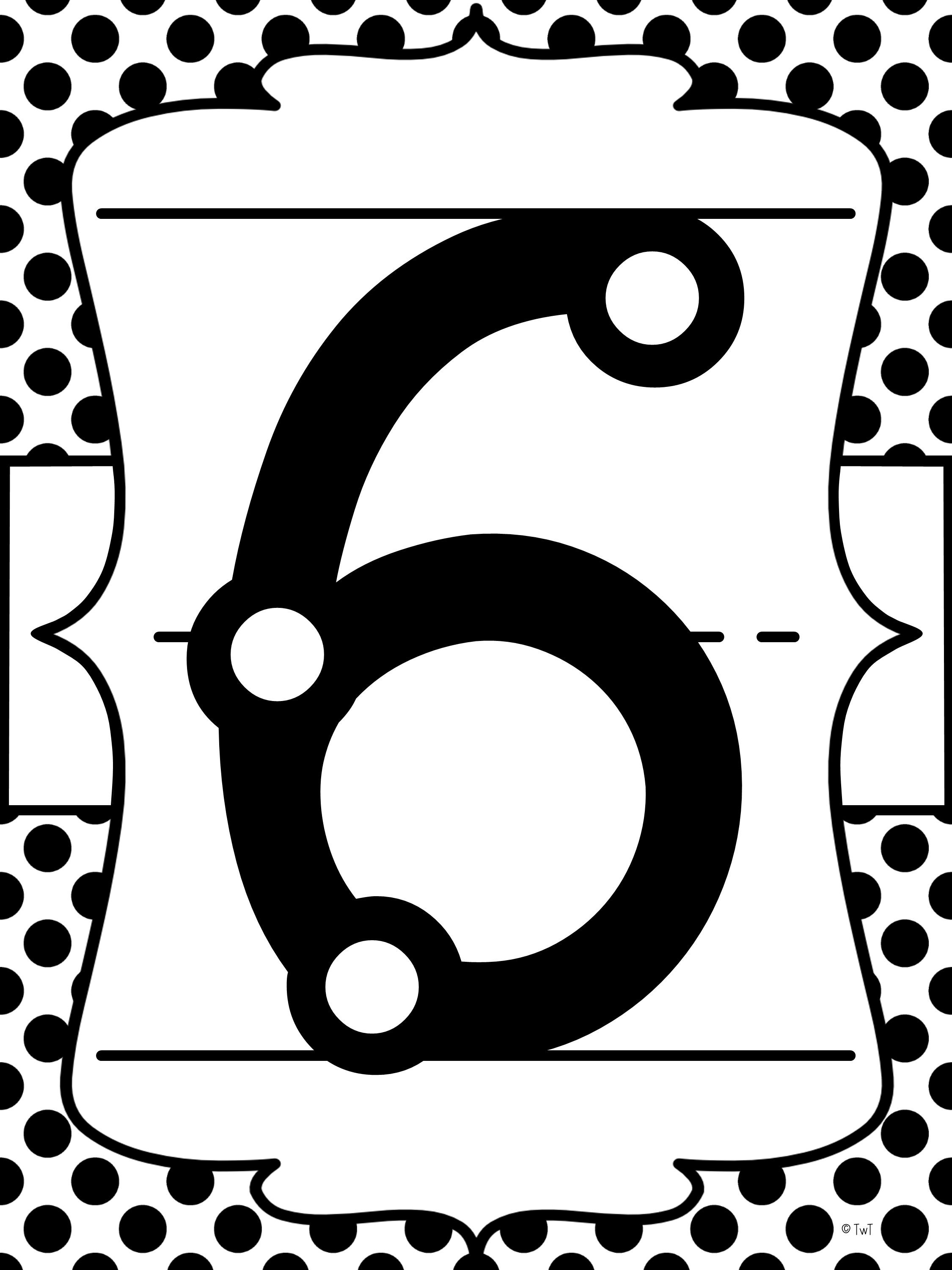 TouchMath Number Posters in black and white #touchmath #