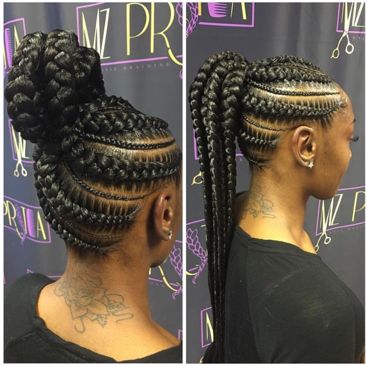 Pin On Braid Updo Black Hair