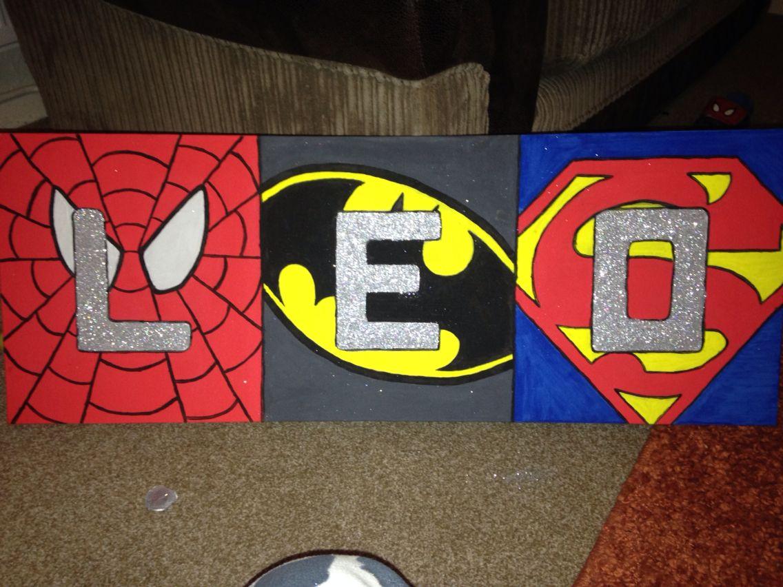 DIY super hero Canvas :)