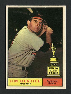 1961 TOPPS JIM GENTILE SP #559 NM-MT SHORT PRINT HIGH # BALTIMORE ORIOLES