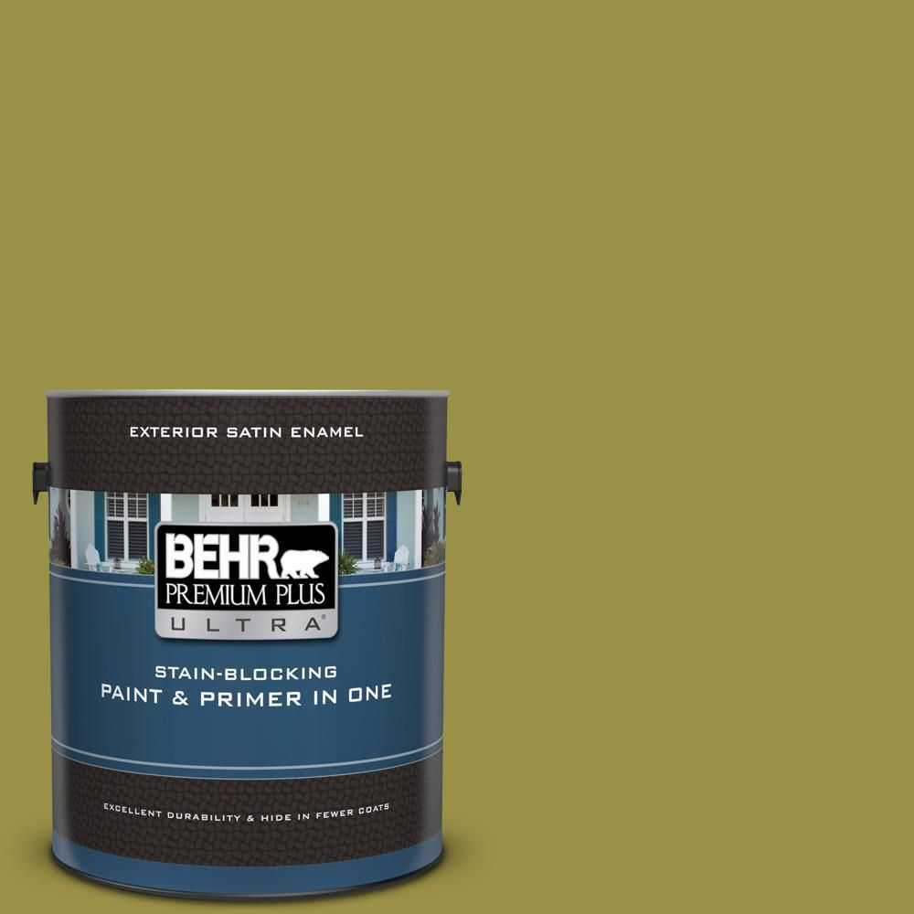 Behr Premium Plus 1 Gal Home Decorators Collection Hdc Fl13 8 Tangy Dill Flat Low Odor Interior Paint Primer 130001 Durable Paint Behr Ultra Stained Blocks