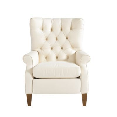 Morrison Tufted Recliner | Ballard Designs    Like The Basketweave Flax  Sunbrella Fabric W/