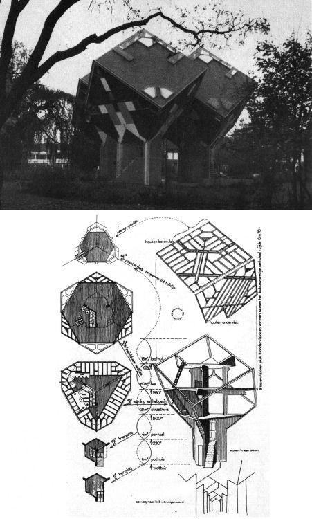 PIET BLOM TREE HOUSES IN HELMOND, 1975