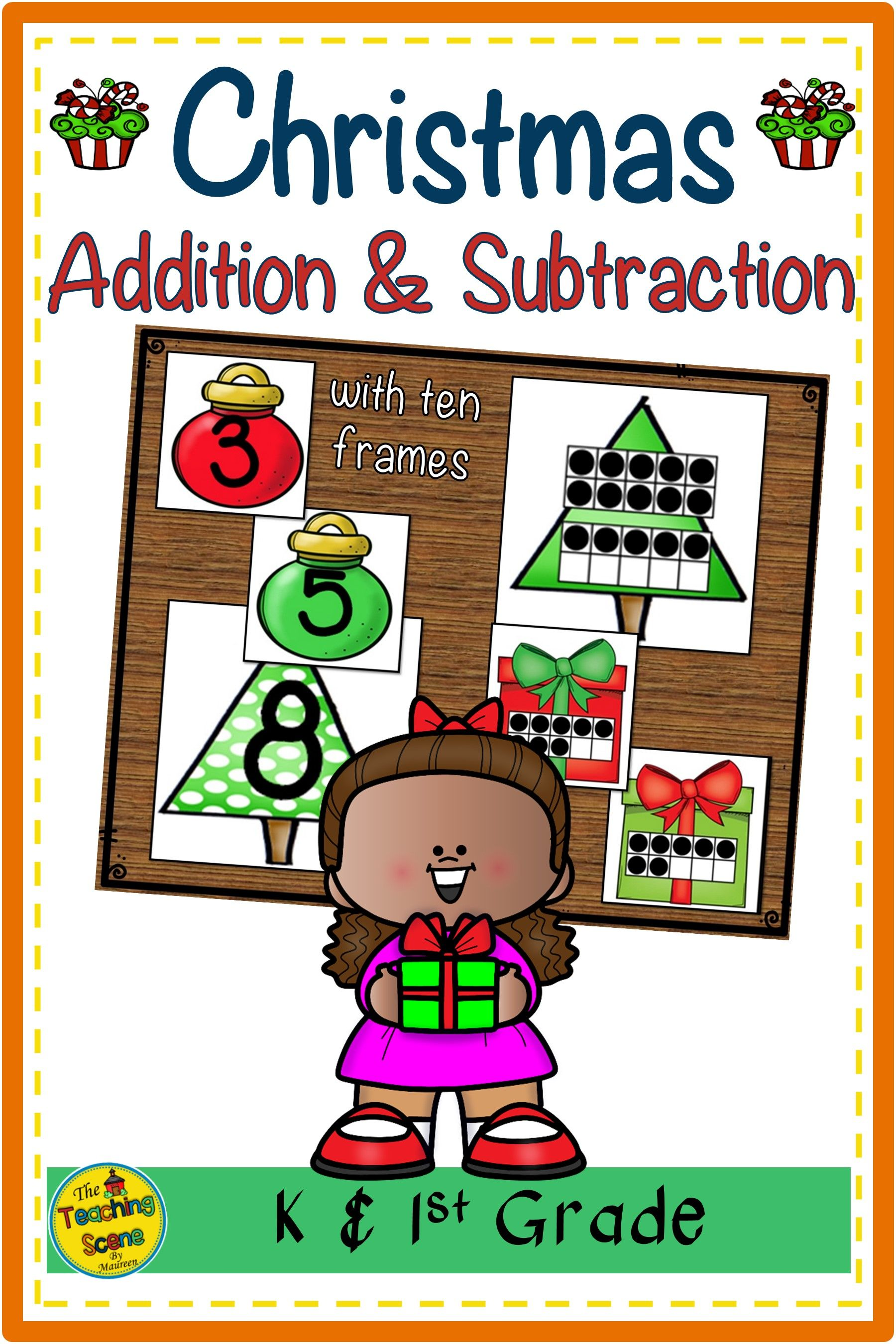 Christmas Two Addend Addition Amp Subtraction With Ten