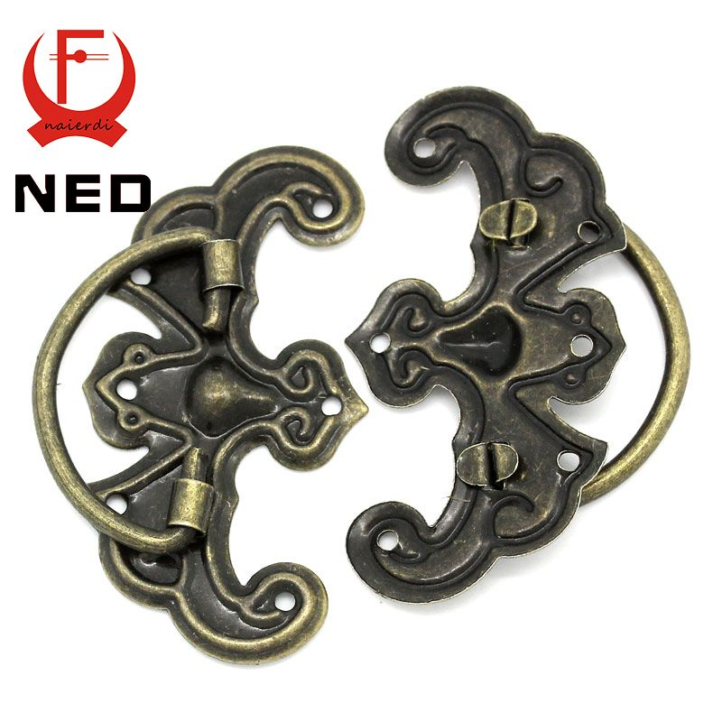 NED 10pcs Classical Bronze Tone Pattern Drawer Cabinet Desk Door