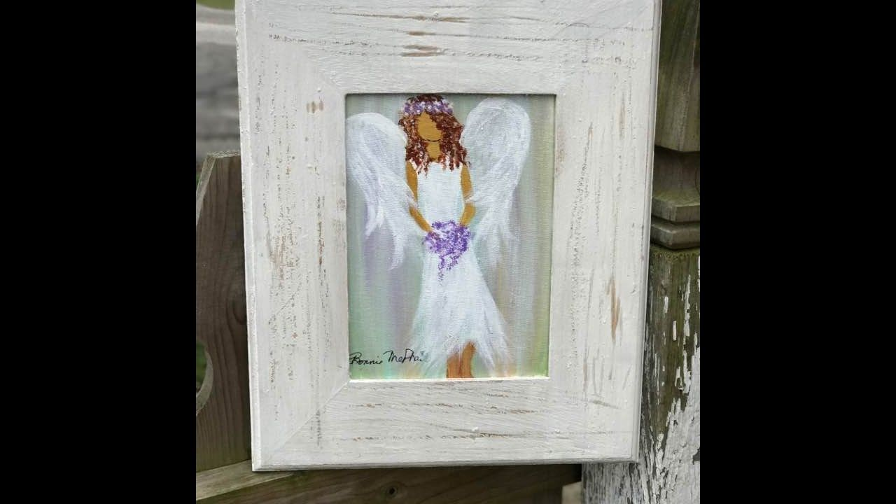 Angel Painting & Distressed Frame Part Two Live! | Acrylic You Tube ...