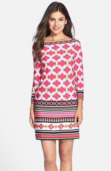 Eliza J Print Jersey Shift Dress (Regular & Petite) available at ...