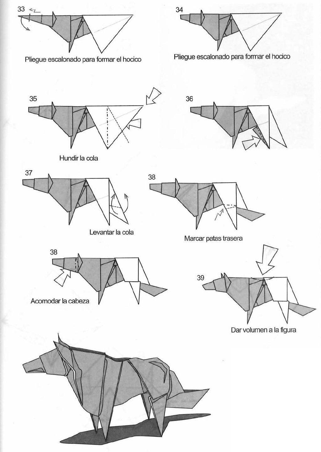origami lobo