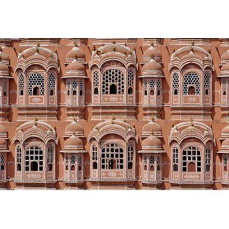 Palace of the Winds Jaipur India Canvas Art - Adam Jones DanitaDelimont (24 x 15)