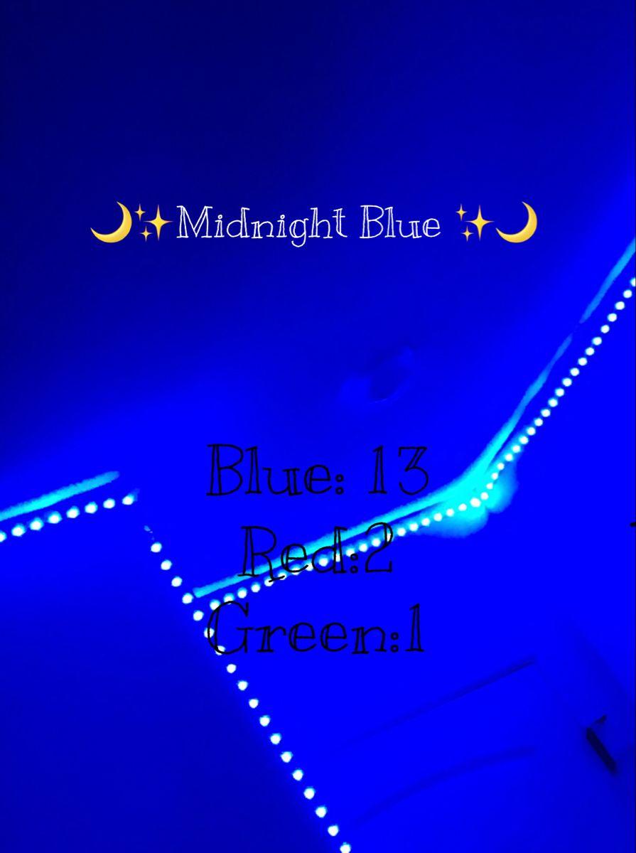 Midnight Blue In 2020 Led Room Lighting Led Lighting Bedroom Led Strip Lighting