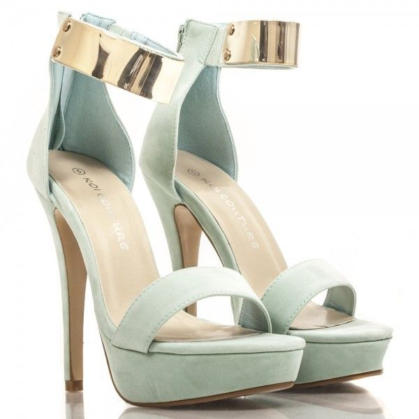 3112f7584cf Mint Green High Heels ❤ liked on Polyvore featuring shoes