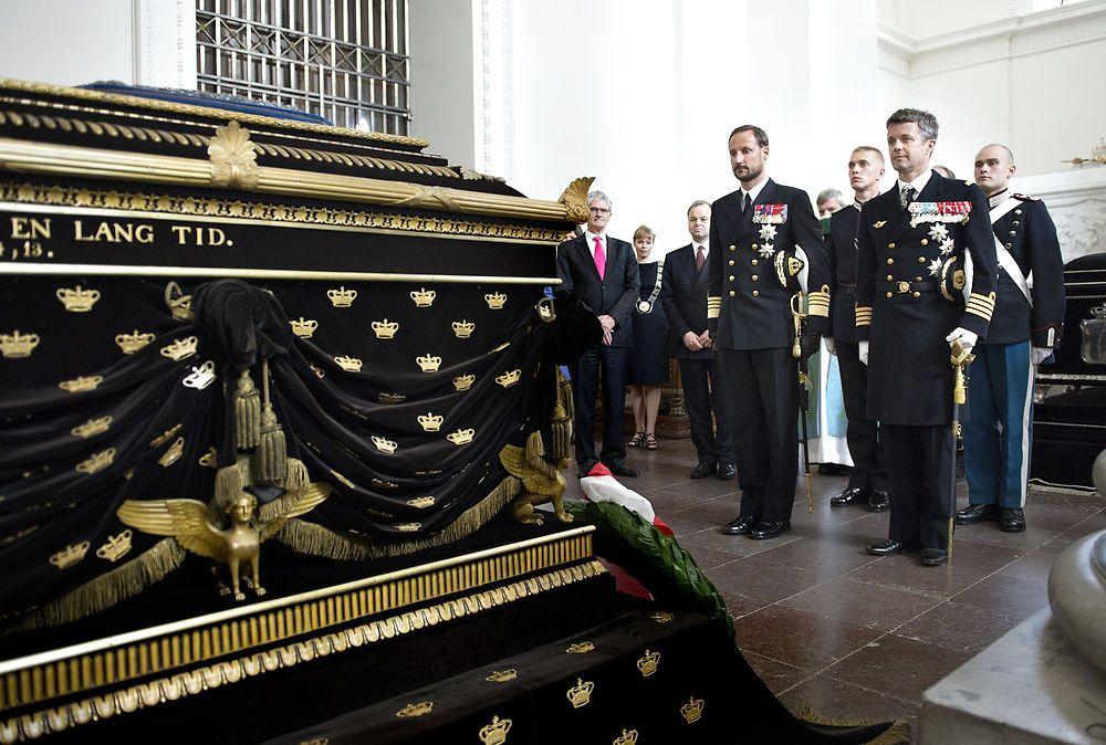 Sa Altesa Reial el Príncep Hereu Frederik i Sa Altesa Reial el Príncep Hereu Haakon.
