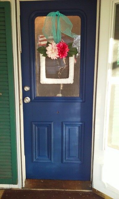 Front Door Behr Ultra Deep Royal Blue The First Of Many Upgrades