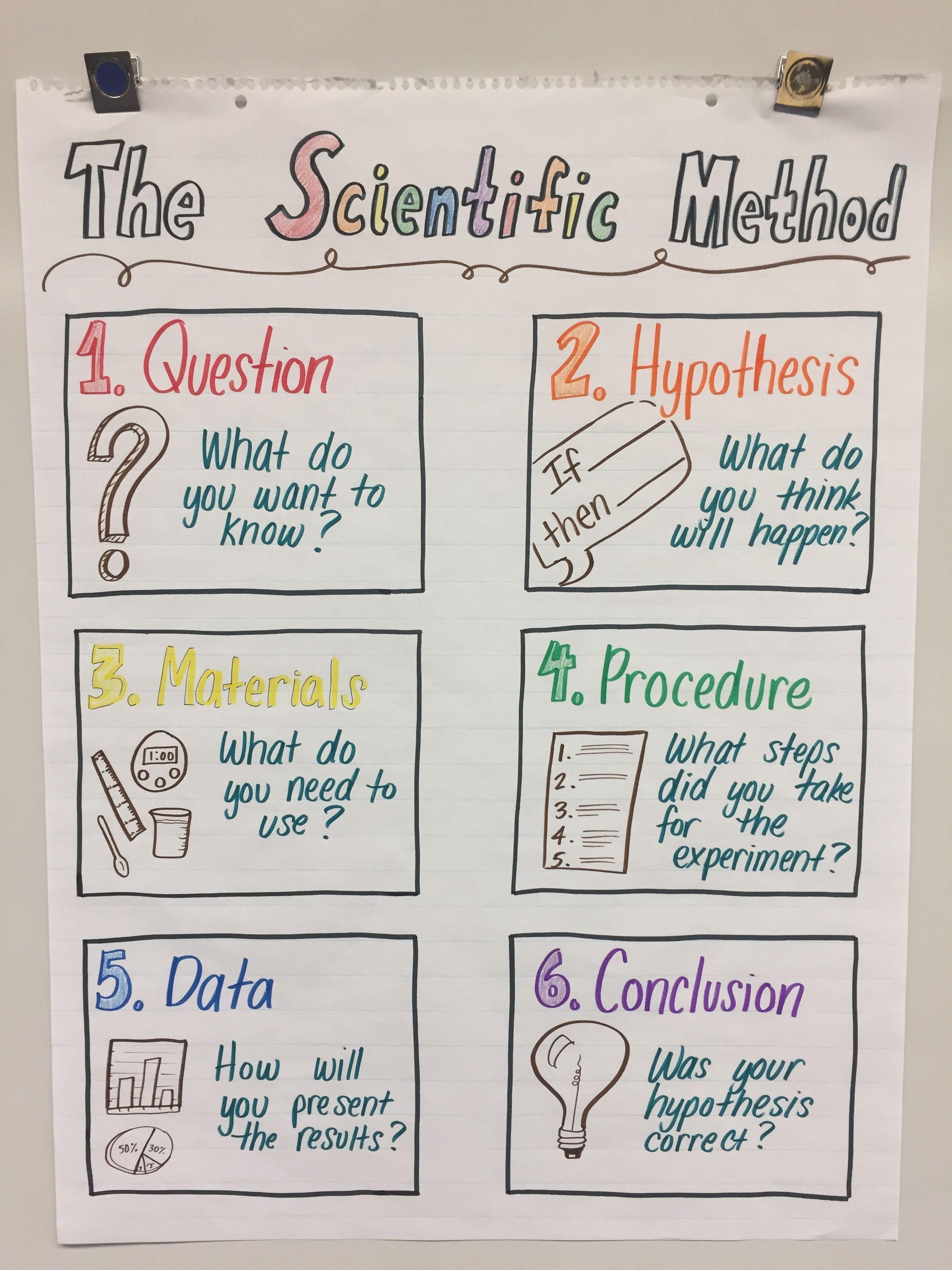 Psychology scientific method anchor chart scientific