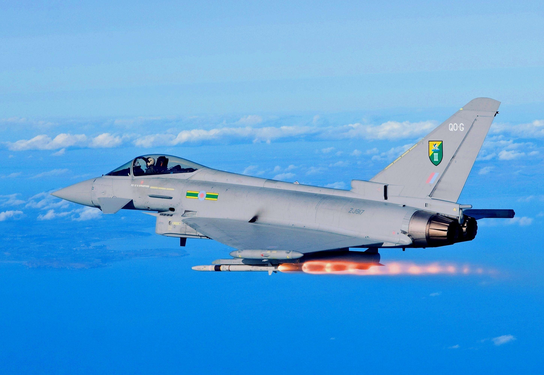Обои fighter, military, eurofighter, Typhoon. Авиация foto 11