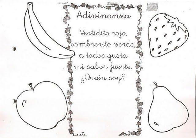 Adivinanza de frutas   chiquitos   Pinterest