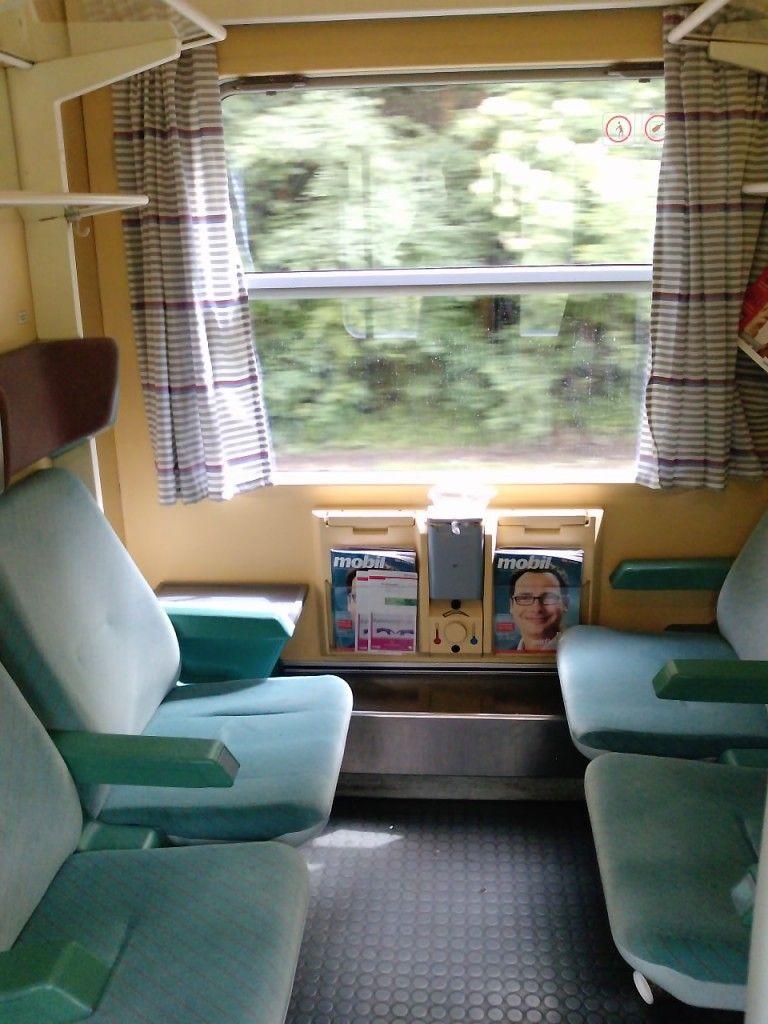 InterRail, first class on German ICE train :)