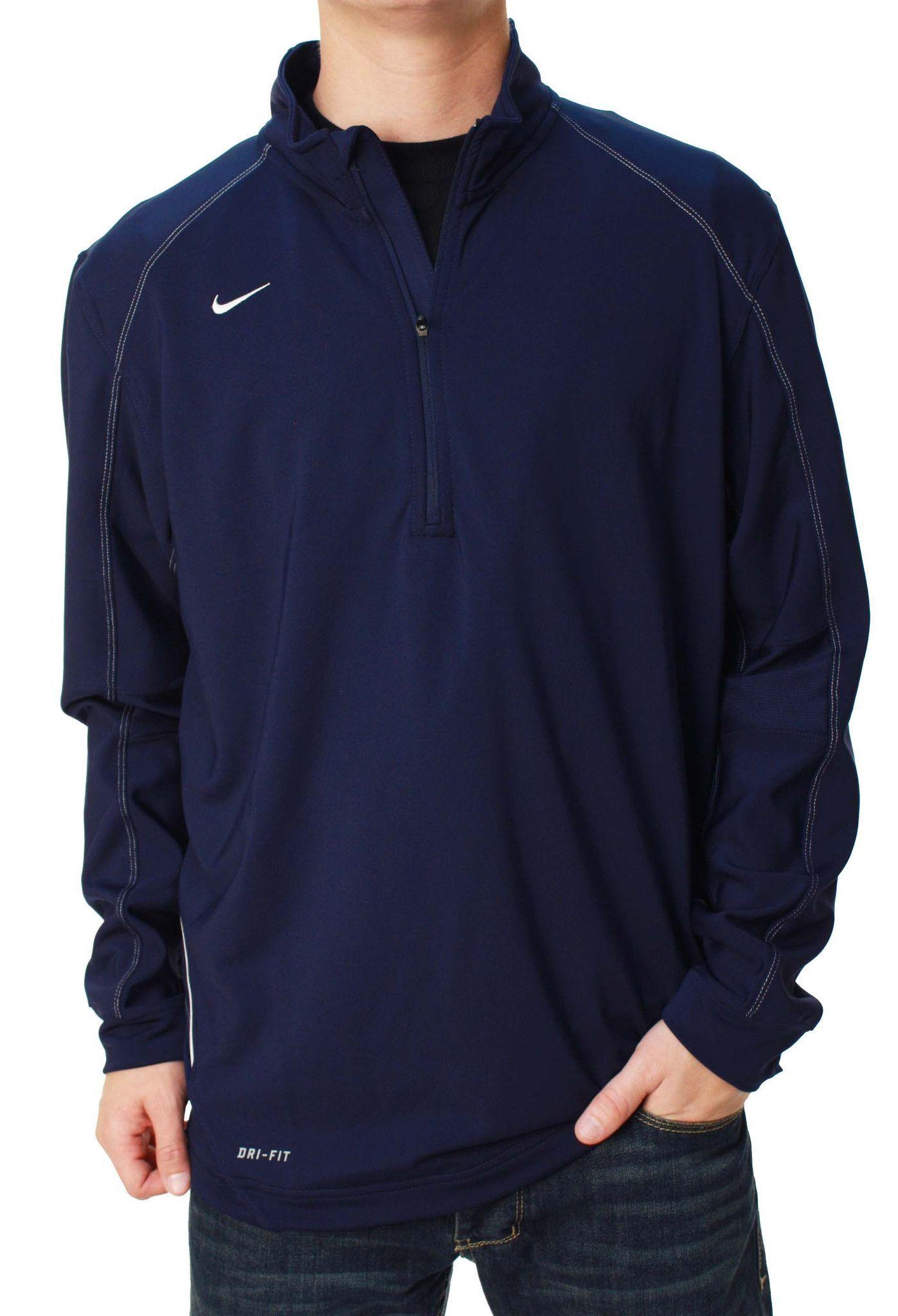 Nike Men\u0027s Dri-Fit Half-Zip Soccer Jacket