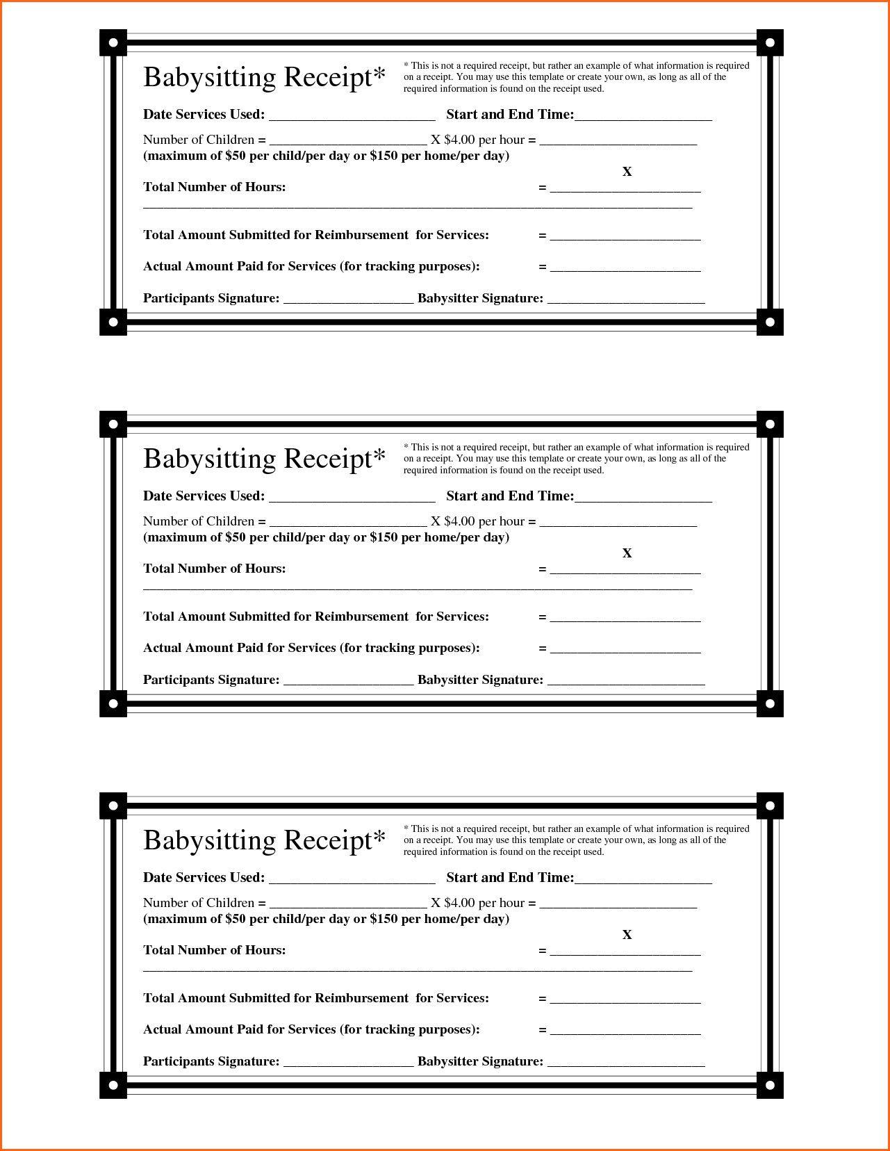 Babysitting Invoice Printable Babysitting Jobs Babysitting Discipline Kids