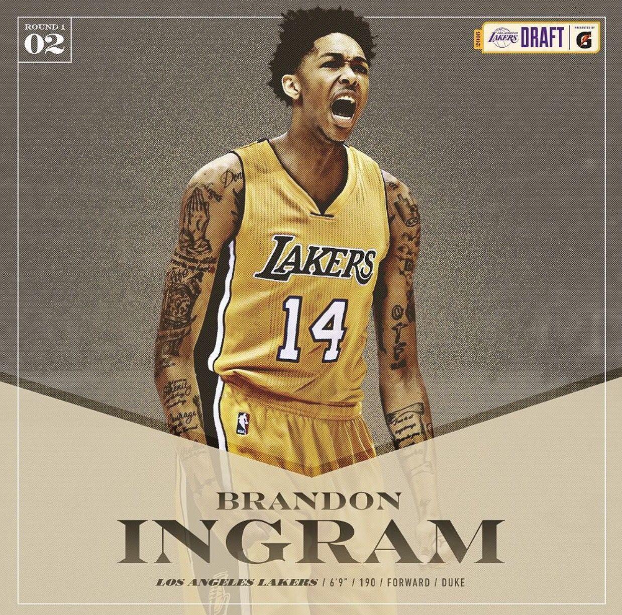 7145151c1 Welcome to the Los Angeles Lakers Brandon Ingram. Instagram  b ingram13    Twitter  B Ingram13