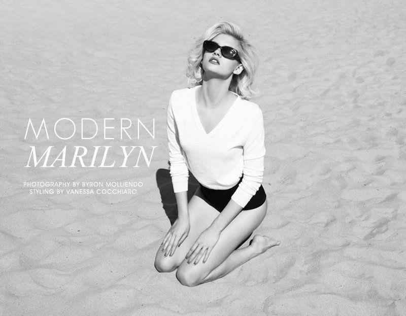 Martina Dimitrova by Byron Mollinedo in Modern Marilyn for Fashion Gone Rogue