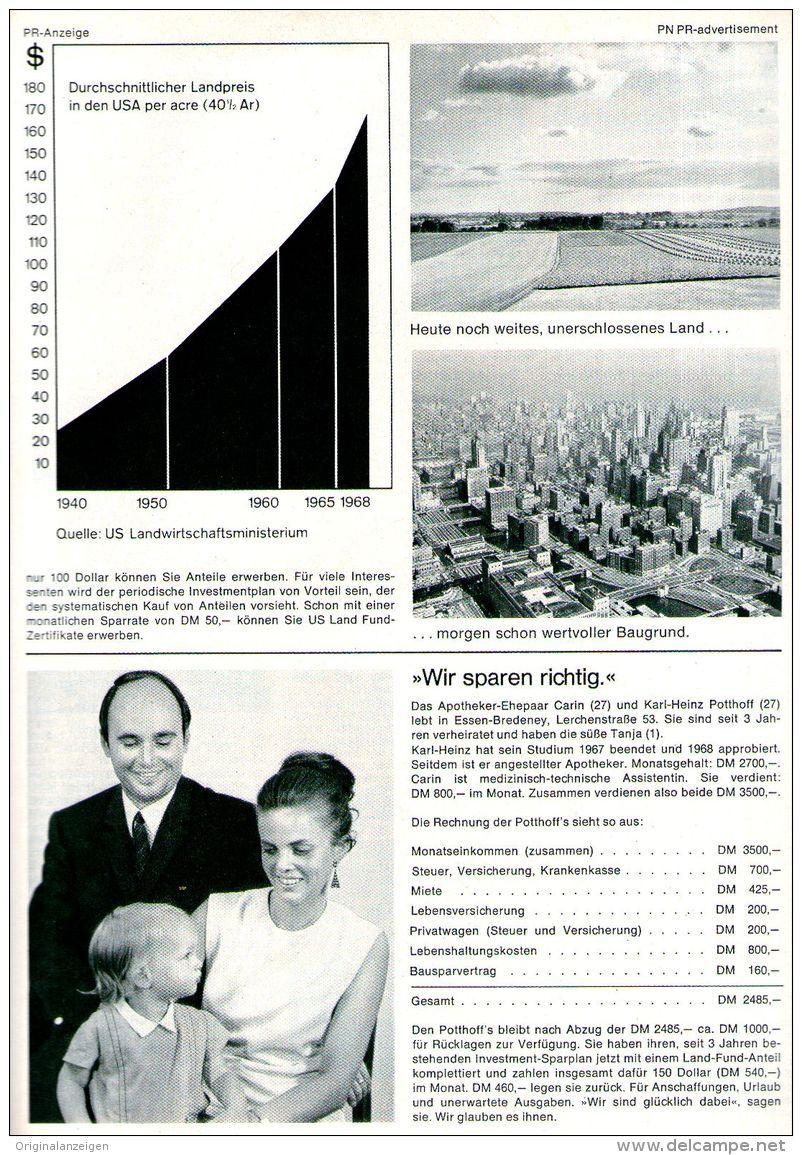 Original-Werbung/ Anzeige 1969 - ANZEIGENSTRECKE AUF 7 SEITEN / MEDWAY US LAND FUND - 6 x ca. 180 x 240 mm