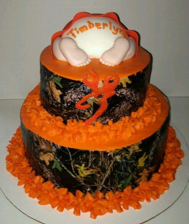Camo Orange Baby Shower Cake Next Baby Ideas Pinterest Baby