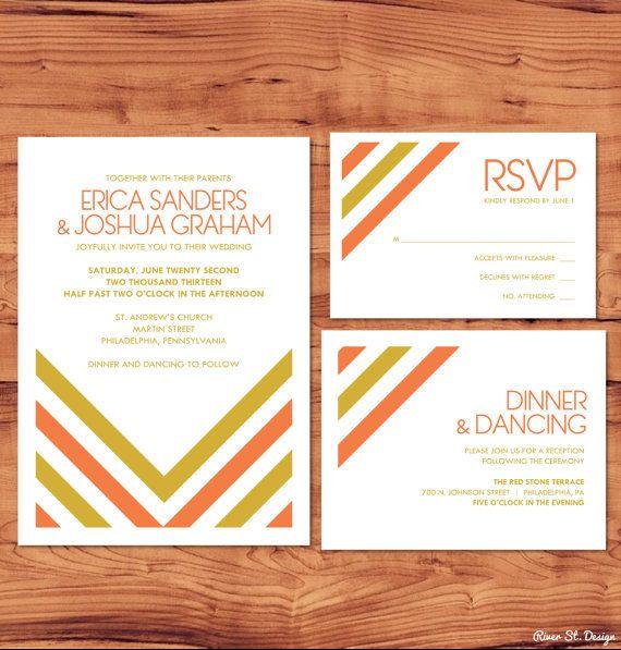 Printable Wedding Package - Invite, RSVP, Enclosure Card - Lee Collection. $35.00, via Etsy.