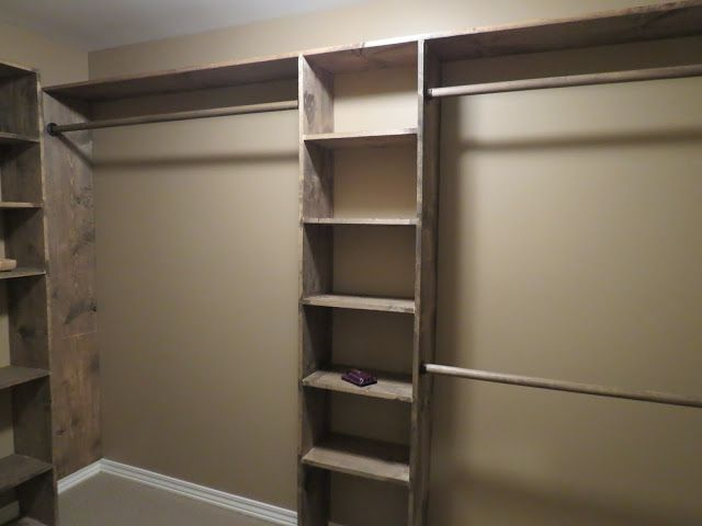 Superbe DIY Walk In Closet Shelving   Would Do This With Plumbing Pipes For Clothes  Hanging Rods