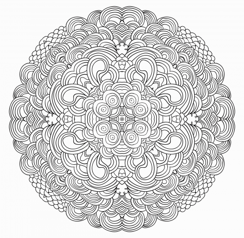 advanced christmas coloring page 20 - Advanced Mandala Coloring Pages