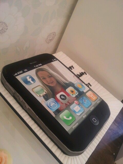 Iphone cake Cakes Cool Ones Pinterest Iphone cake Cake