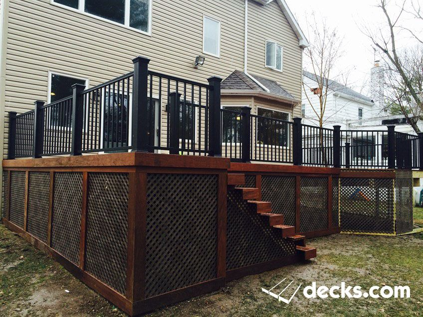 Pre Oiled Ipe Deck With Black Trex Transcend Posts And