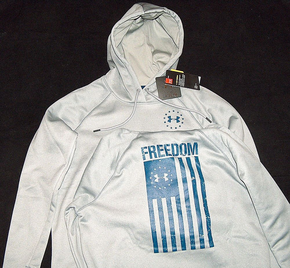 New Under Armour Womens L Military Rival Freedom Pullover Sweat Shirt Hoody Nwt Fashion Clothing Shoes Sweatshirts Hoodie Active Wear Pullover Sweatshirts