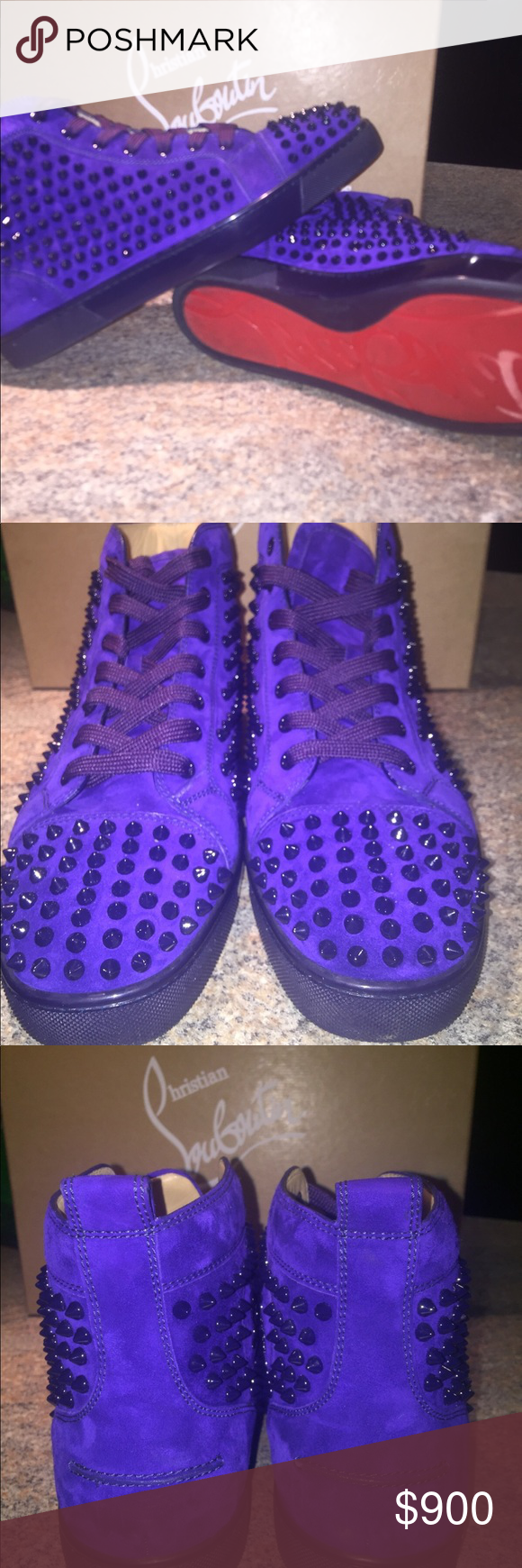 sports shoes 6e21e c51c2 Purple Christian Louboutin Sneakers Preowned *gently worn ...