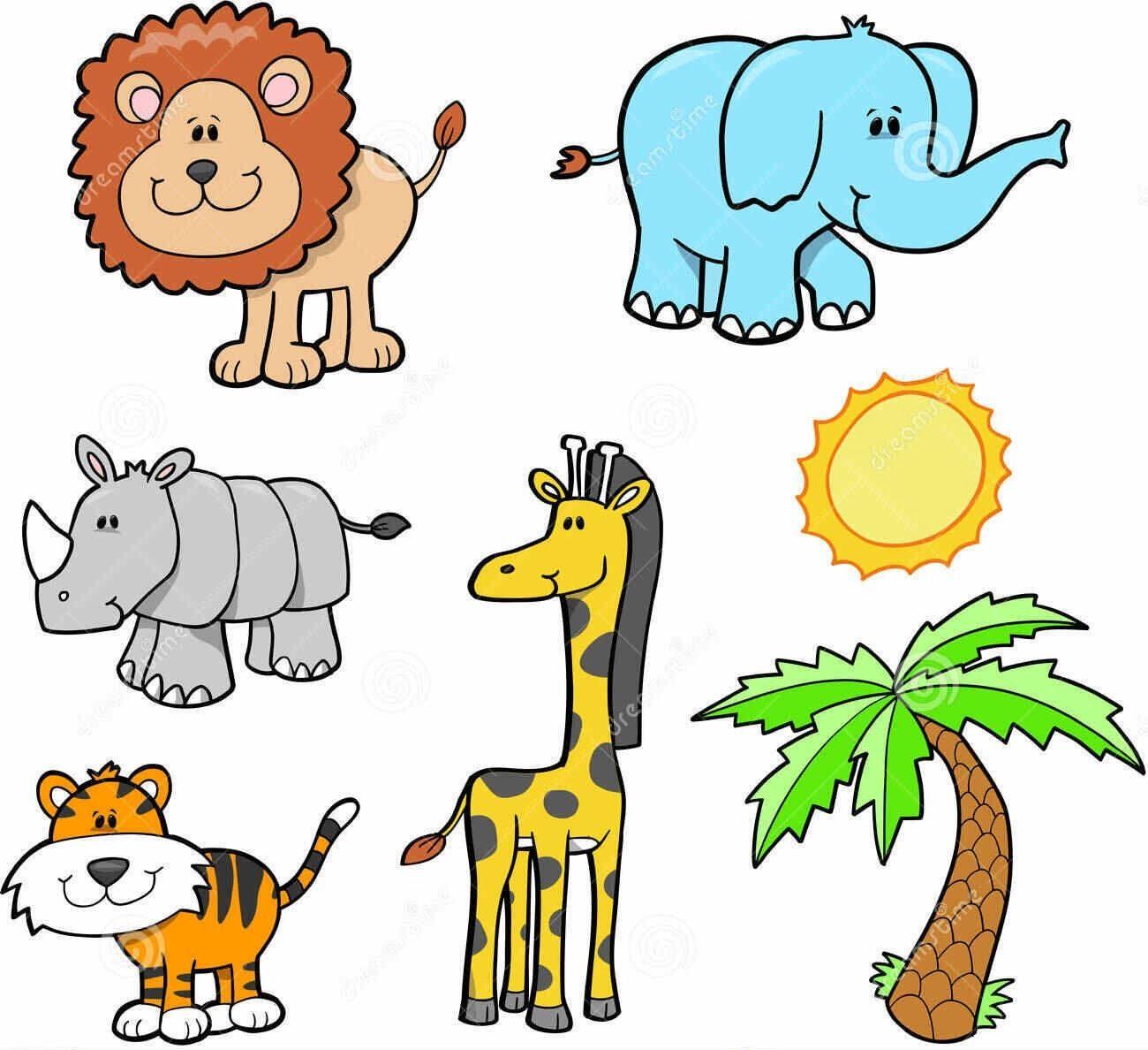 Pin By Krunoi On Cartoon Cute Safari Animals Clipart Animals Animal Free