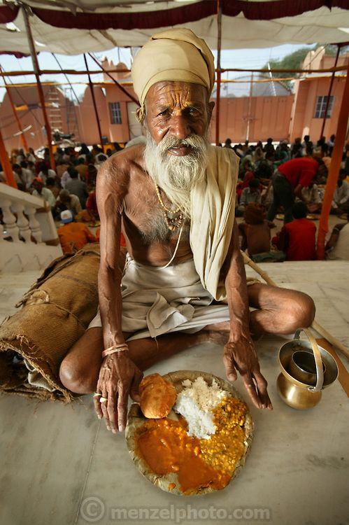 Sitarani Tyaagi, an ascetic Hindu priest, with typical day's