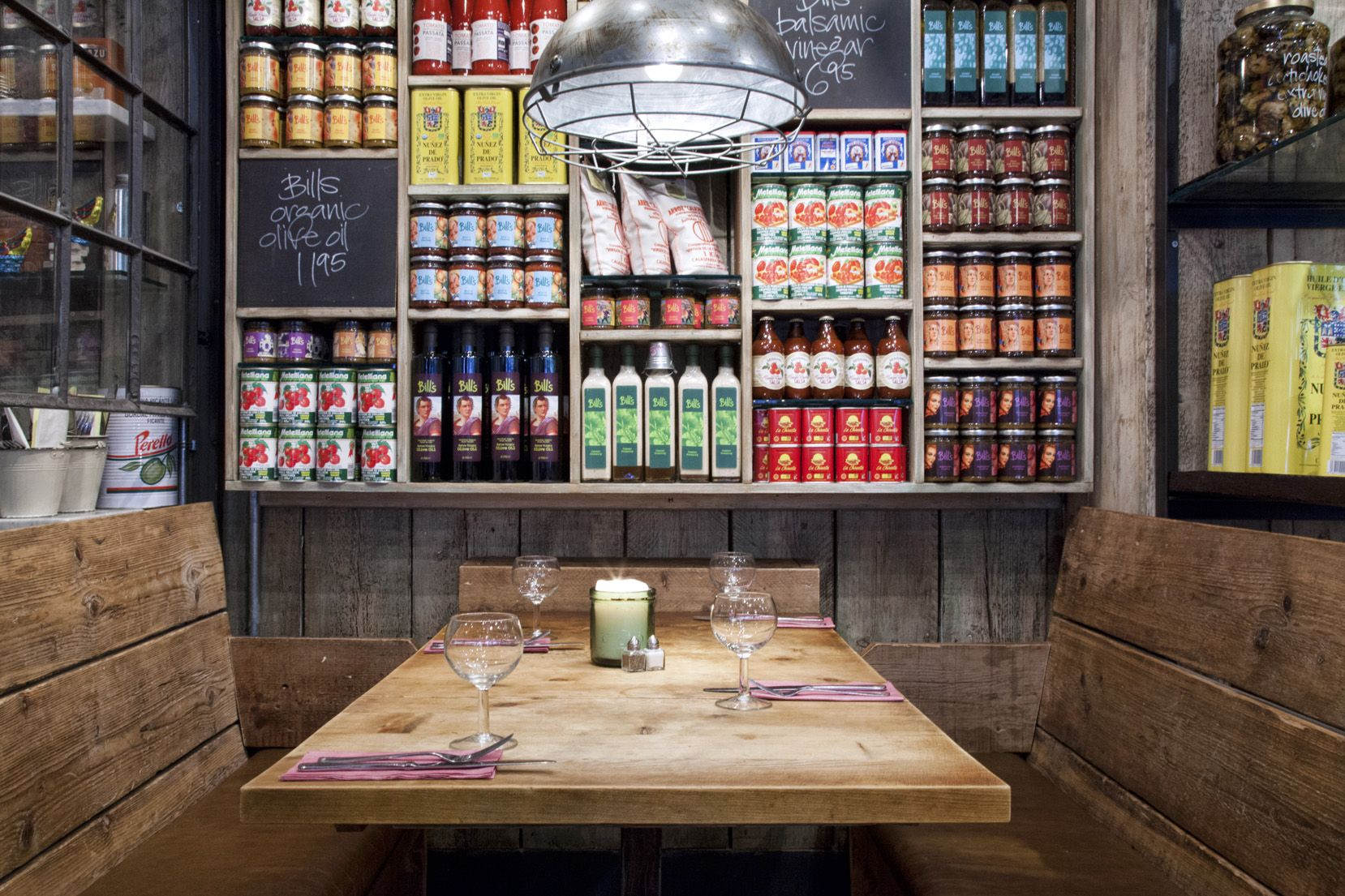 i like this with its rustic look and very corner store-colorful