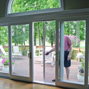 magnetic screen door for sliding glass