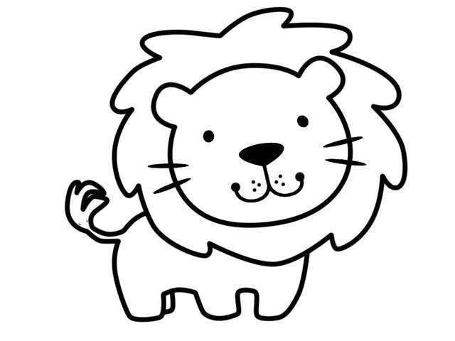 Dibujos De Animales Fotos Diseños Para Imprimir Y Colorear Dibujo De León Para Imp Leon Para Colorear Dibujos Para Colorear Faciles Animalitos Para Colorear