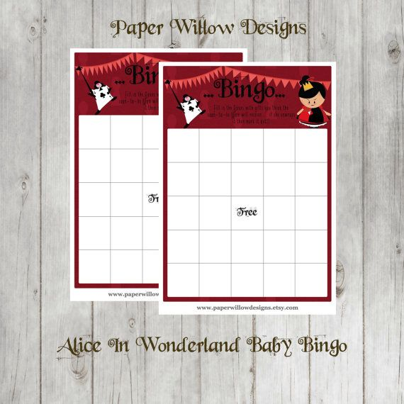 Alice in WonderlandBaby Shower Game Set 01BABYDIYPrintable Games
