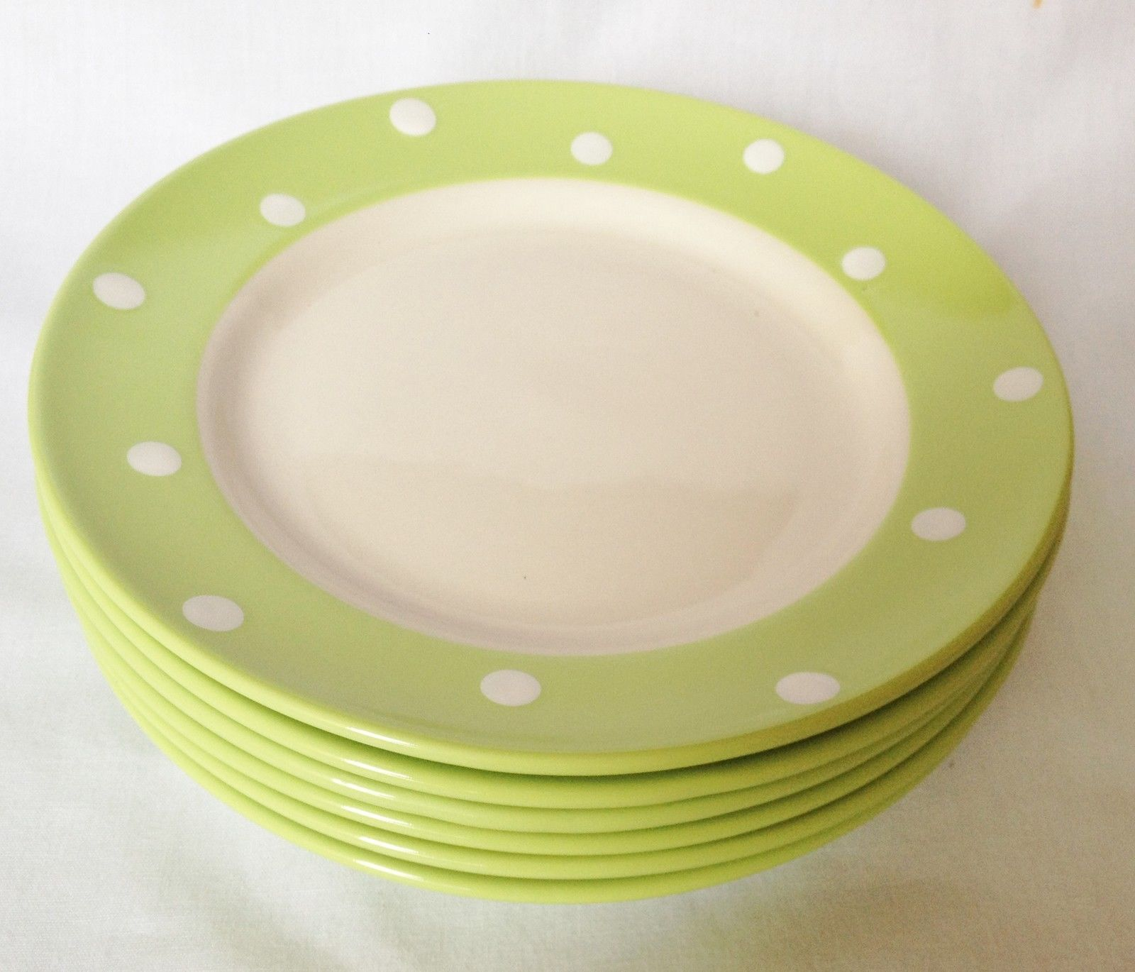 Spode Baking Days Green Salad Plates x 6 NEW and USED | eBay ...