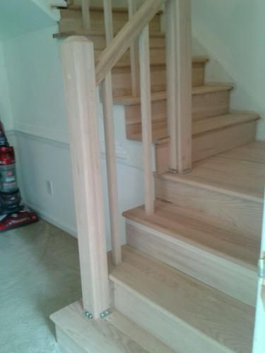 Pin On Mike Mindy | Poplar Stair Treads Home Depot | Newel Cap | 000 0000L | Quarter Turn | Baluster | Rosette